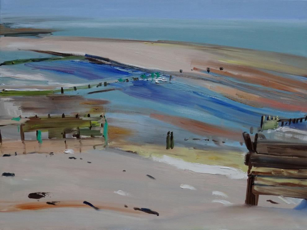 Cuckmere beach, oil on canvas, 45 x 60 cm