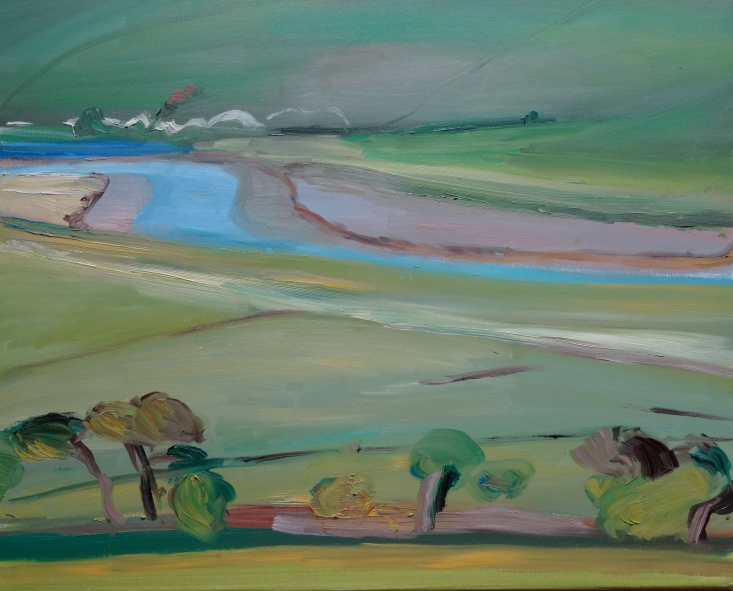 Cuckmere Spring, oil on canvas, 40 x 50 cm