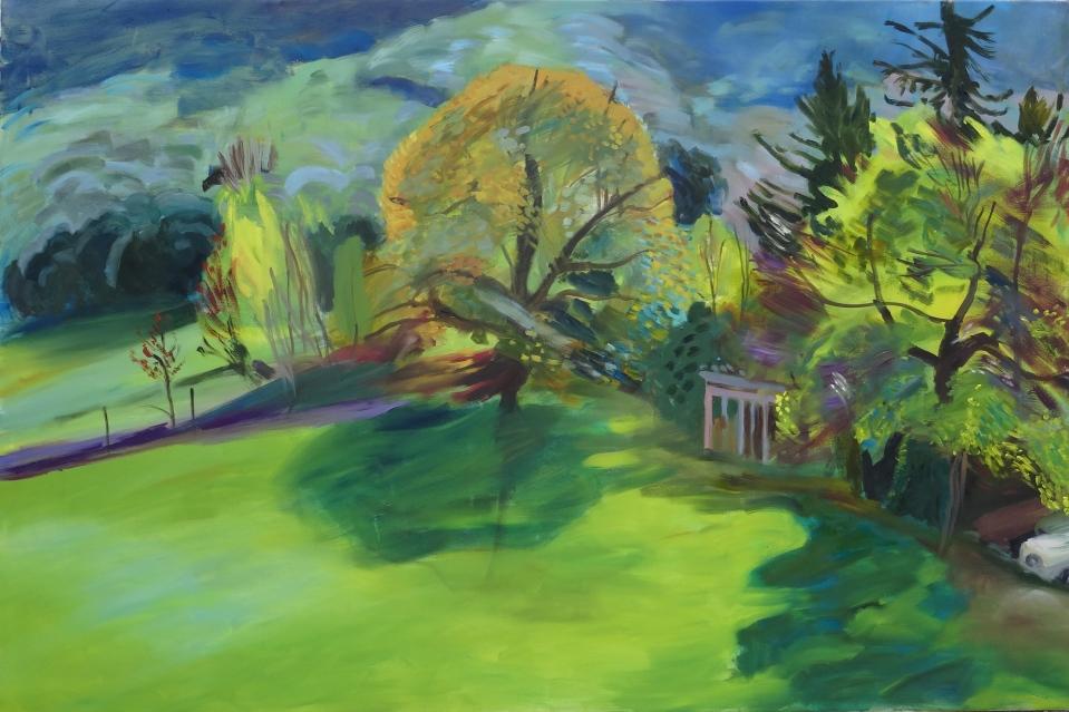 'L'eclat de soleil', oil on canvas, 100 x 152 cm