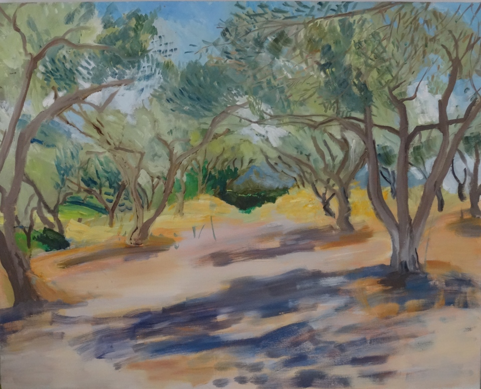 'In the olive grove' oil on canvas, 80 x 100 cm