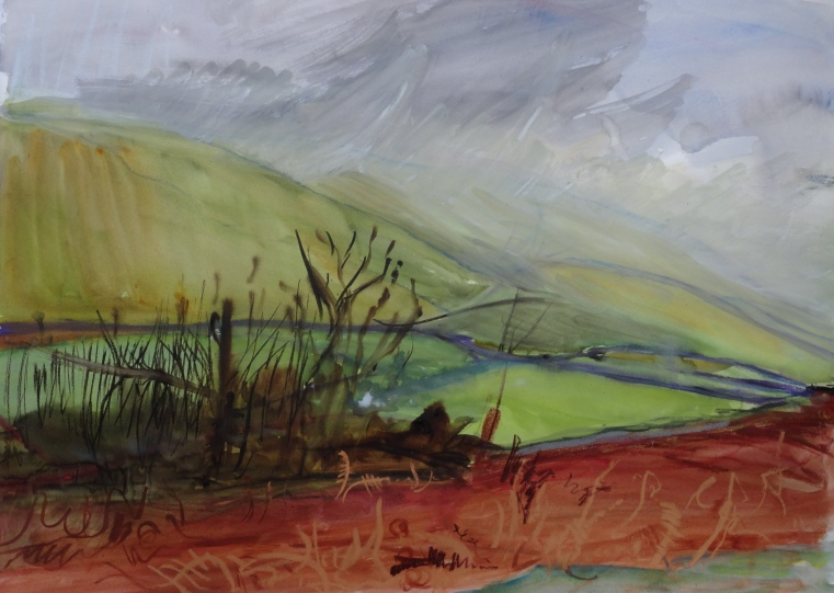 'Mist over Littondale',  56 x 76 cm
