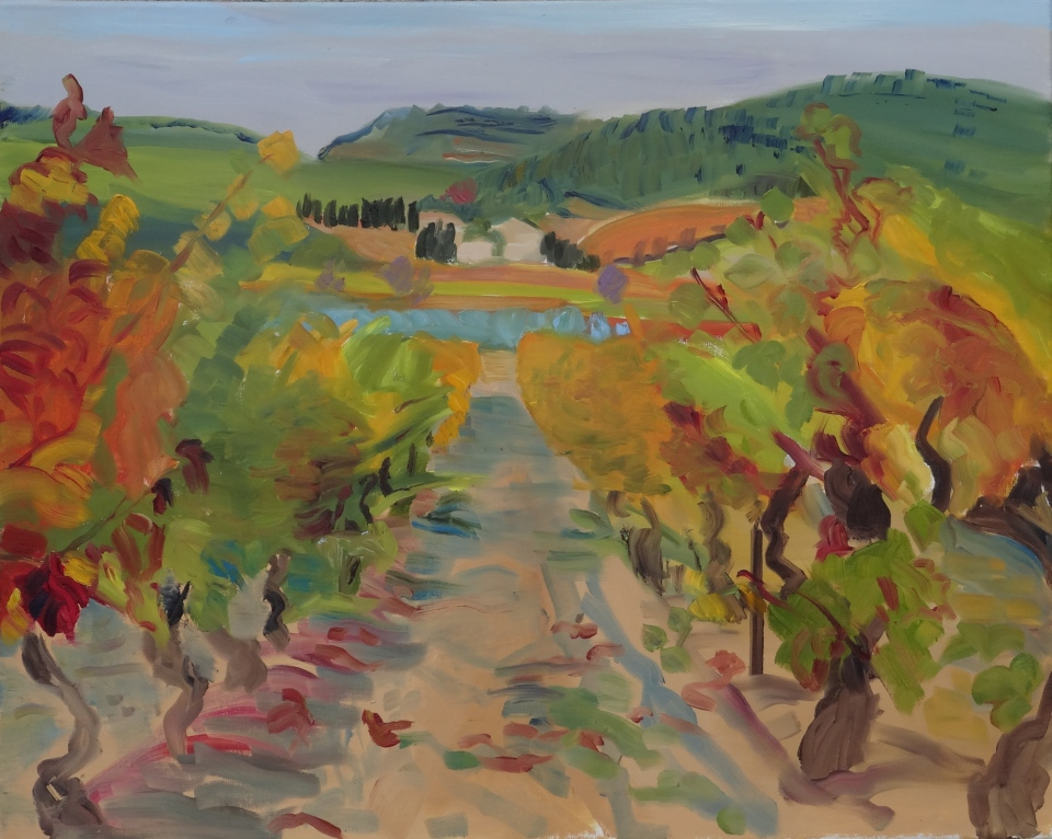 'Towards Le Prat Neuf', oil on canvas, 61 x 76 cm