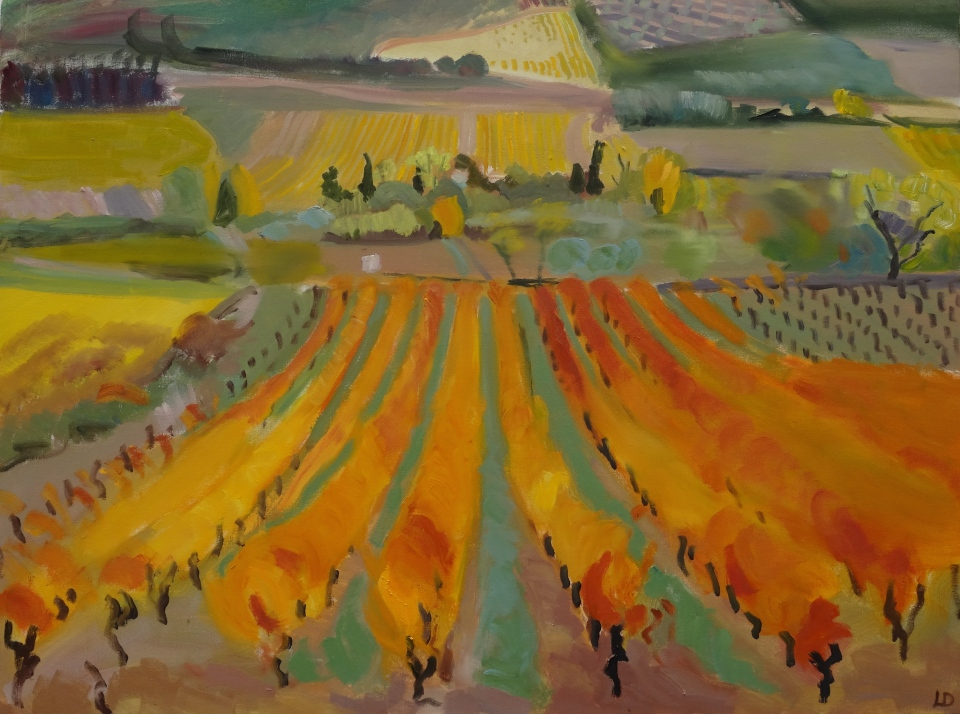 'Autumn gold' oil on canvas 78 x 100 cm