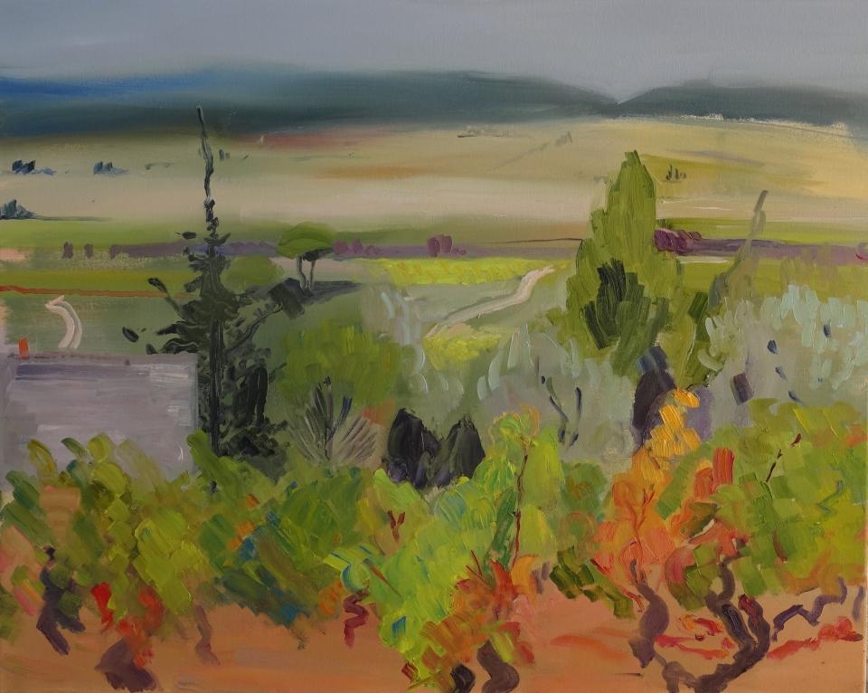 'Le cabanon en automne'. huile sur toile, 61x76 cmJPG