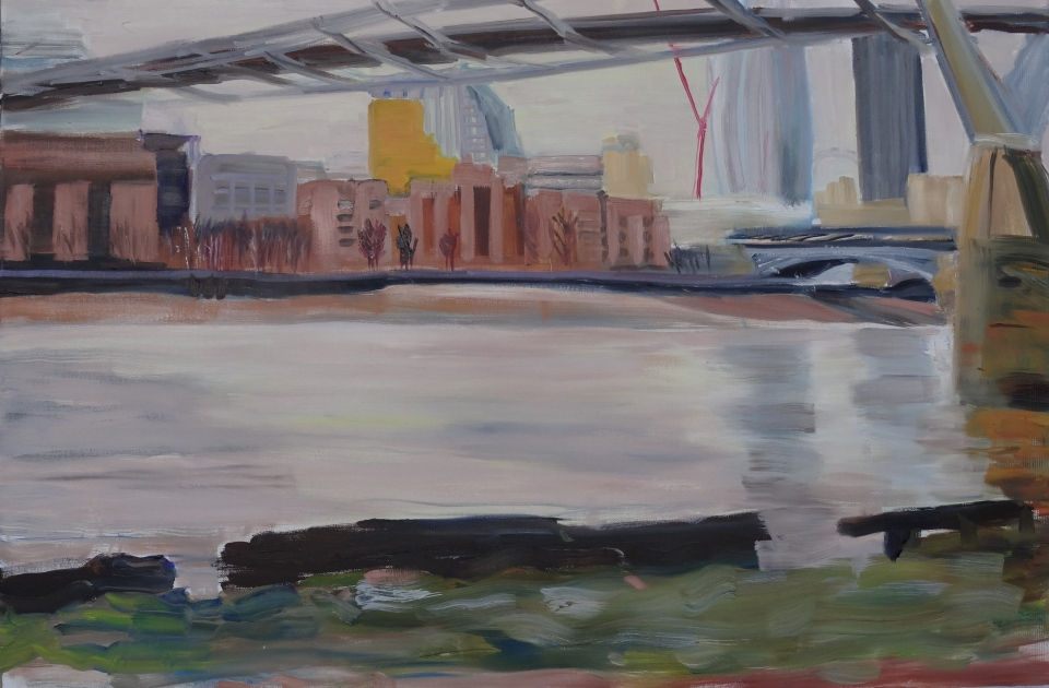 'Bankside' oil on canvas, 61x92 cm