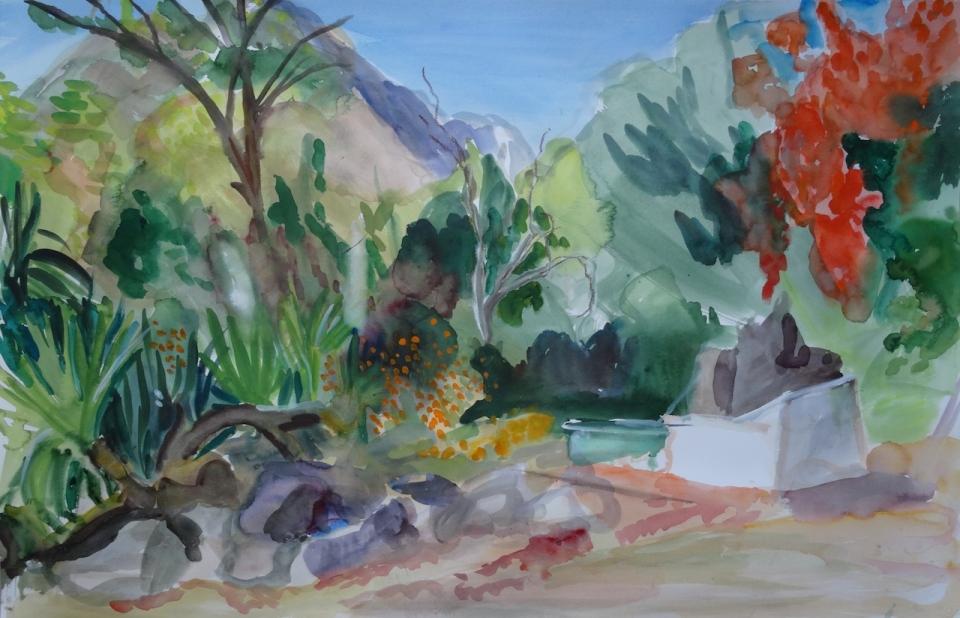 'Moulintor' aquarelle 67 x 101 cm